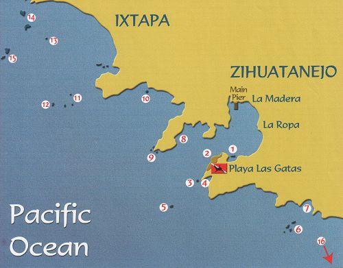 Diving sites in Ixtapa Zihuatanejo